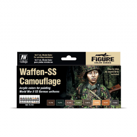 Vallejo Model Colour Waffen-SS Camouflage Paint Set